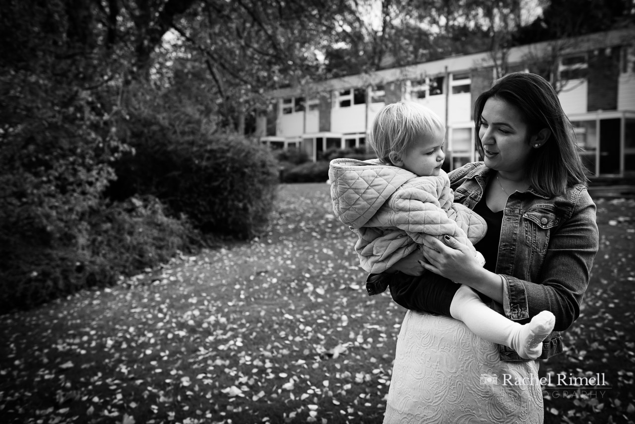 black and white mother and child photo in blackheath