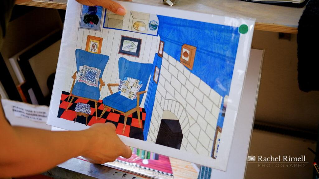 London illustrator detail image of artwork