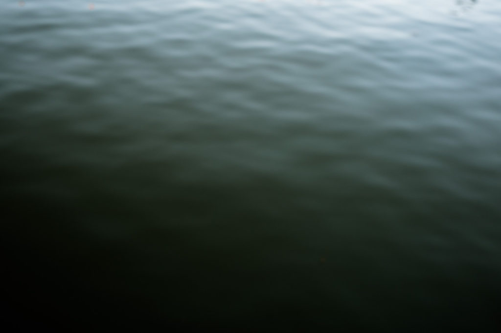 blurred out of focus image of the sea at Whitby