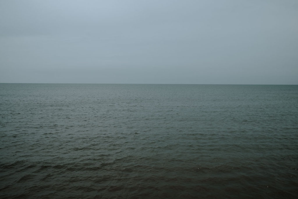 the horizon as viewed from Filey promenade North Yorkshire June 2021
